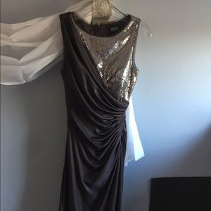 Adrianna Papell NEW  sequin cocktail dress sz 4